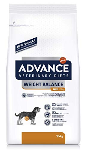 Advance Veterinary Diets Weight Balance Pienso para Perros Mini - 1500 gr