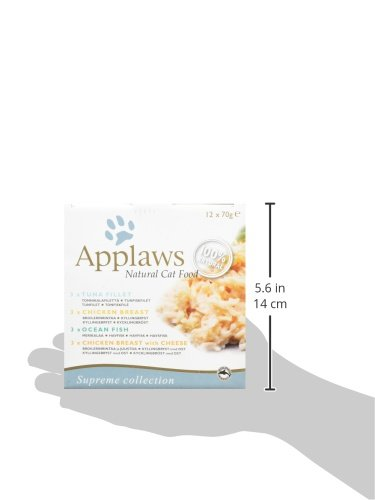 Applaws - Estaño para gatos, 1 Pack of 12 units x 70gr