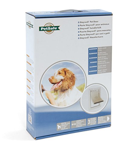 Croci C6066233 Petsafe Staywell Aluminio Door Pet, Medium, Bianco
