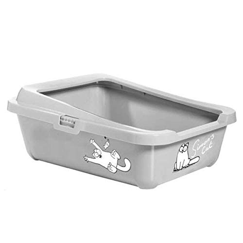 Karlie Simon 's Cat 51756 Cat Litter Caja 43 cm x 32 cm x 16 cm, Color Gris