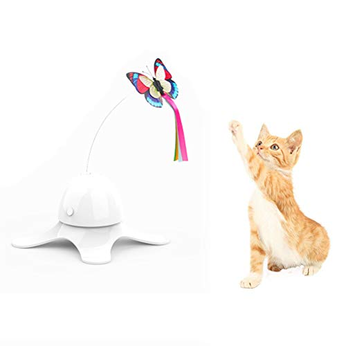 Uyuke Cat Stick, Mariposa eléctrica Juguetes para Mascotas Interactivo Cat Butterfly Toy Cat Catch Training Automatic Funny Interactive Kitten Cat Toy