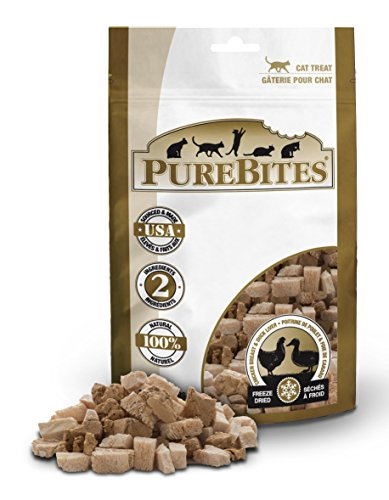 PureBites Cat Chicken and Duck Liver Freeze Dried Natural Nutritious Treats 1.12 oz
